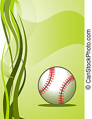 矢量, 棒球, 背景