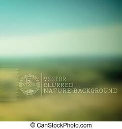 矢量, 模糊背景, 自然