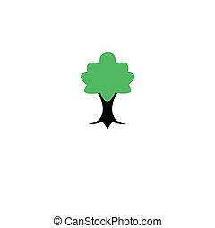 矢量, 樹, 圖象