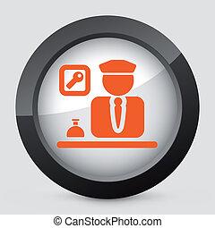 矢量, 橙, 以及, 灰色, 被隔离, icon.