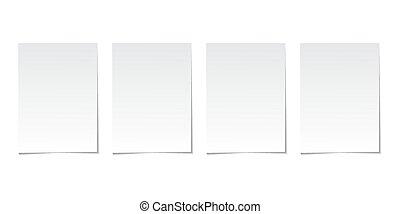 矢量, 灰色, 被单纸, 收集, 背景