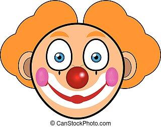 矢量, ......的, 臉, ......的, a, 小丑