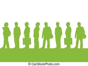 矢量, 監督人, 項目, 環境, 建設, 生態學, 背景, 綠色, 工程師