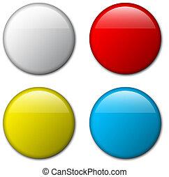 矢量, 空白, 徽章, 樣板, 插圖