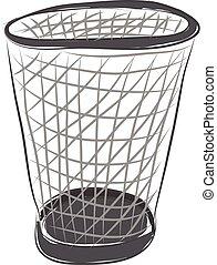 矢量, 籃子, 垃圾, 背景, 白色, 空, 顏色, 插圖