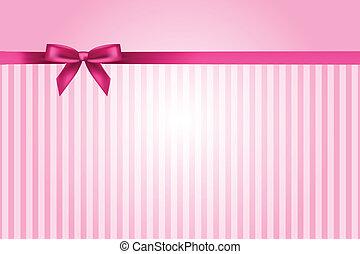 矢量, 粉紅背景, 由于, 弓