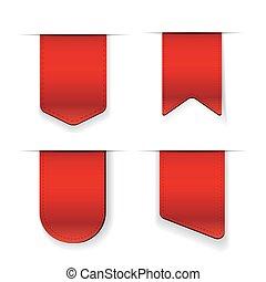 矢量, 紅的緞帶, 集合