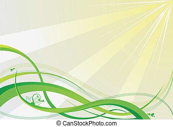 矢量, 綠色的背景