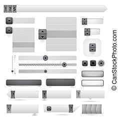 矢量, 网络设计, 元素