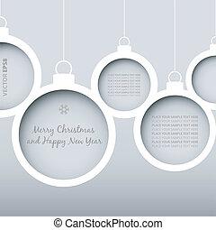 矢量, 聖誕節, 球