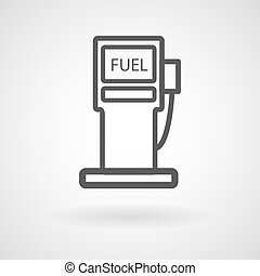 矢量, 背景, 燃料, 站, 白色, 图标