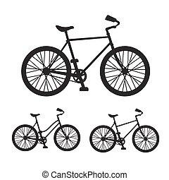 矢量, 自行车, 侧面影象, 放置