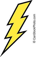 矢量, 螺栓, 閃電, 圖象