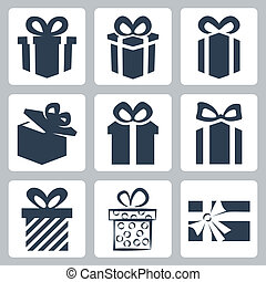 矢量, 被隔离, 禮物, 禮物, 圖象, 集合