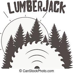 矢量, 設計, ......的, 木製品, 明信片