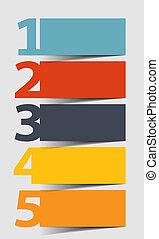 矢量, 设计, 描述, 元素, infographics
