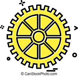 矢量, 设计, 齿轮, 图标