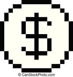 矢量, 象素, 美元, 圖象