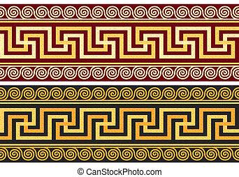 矢量, 起絨粗呢, 由于, 希臘語, 裝飾品