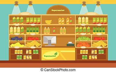 矢量, 超級市場