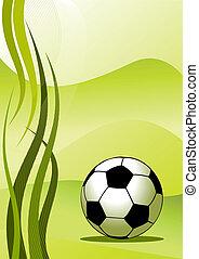 矢量, 足球, 背景