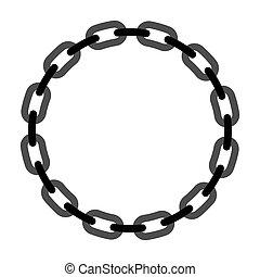 矢量, 輪, chain., 做, 框架, 插圖