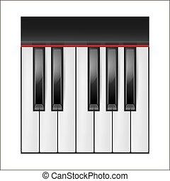 矢量, 鋼琴鑰匙