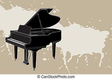 矢量, 鋼琴