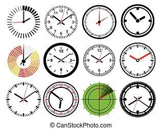 矢量, 鐘, 圖象