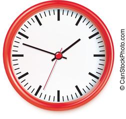 矢量, 鐘, 插圖
