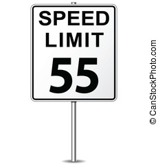 矢量, 限速 標誌