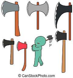 矢量, 集合, 斧子