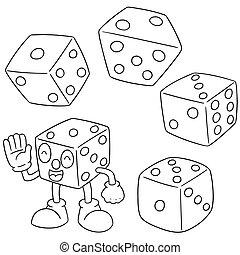 矢量, 集合, ......的, 骰子