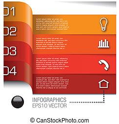 矢量, 集合, ......的, infographics, 元素