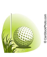 矢量, 高爾夫球, 背景
