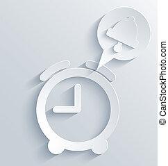 矢量, 鬧鐘, 背景。, eps10