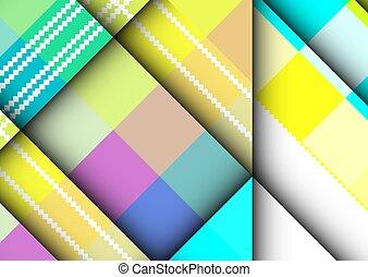 矢量, 鮮艷, frames., 背景, abstract., geometric., 廣場