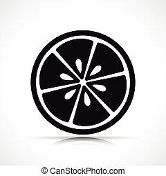 矢量, 黑色, 柠檬色的片段, 图标