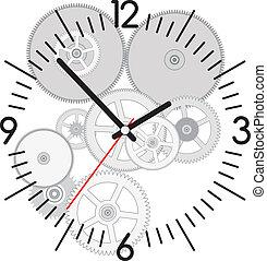 矢量, 齒輪, 鐘