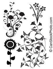 矢量,  5, 花, 設計