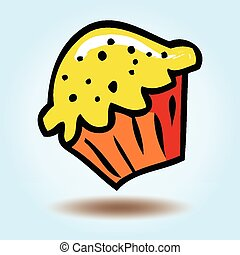 矢量, cupcake