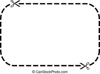 矢量, cupon, 邊框