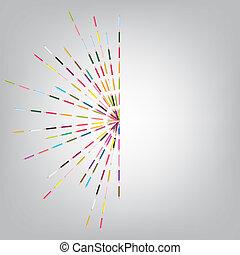 矢量, illustrationt, ......的, 被給上色鉛筆