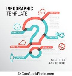 矢量, infographic, 问题, 样板, 标记