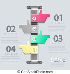 矢量, infographic, eps10, design.