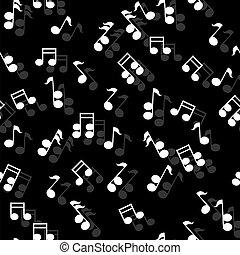 矢量, seamless, 音樂, pattern., eps, 10
