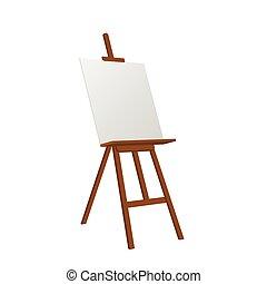 矢量, sienna, 艺术, 画架