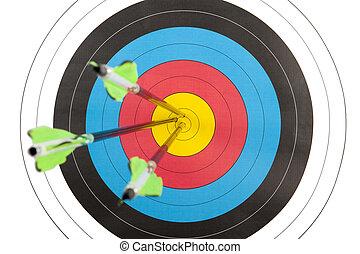矢, アーチェリー, 衝突, ターゲット, 3