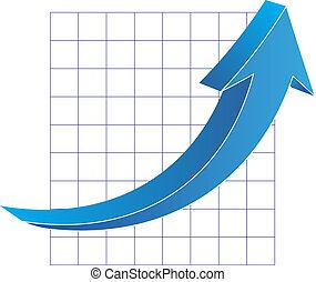 矢, グラフ, ビジネス
