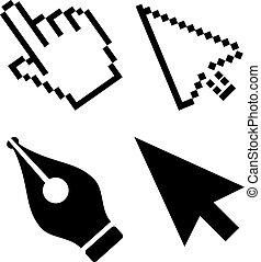 矢, ベクトル, カーソル, アイコン